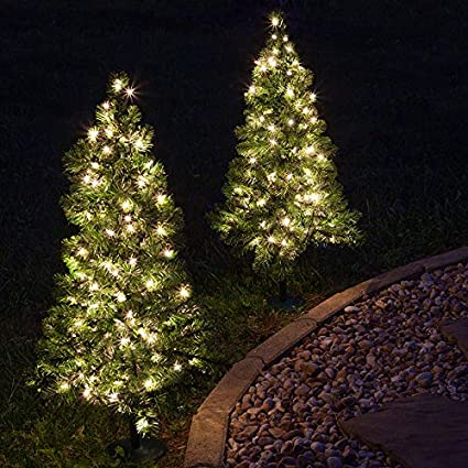 Amazon.com : Red Sleigh Pathway Christmas Tree Light, Mini Outdoor ...