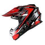 1Storm Youth Motocross Helmet BMX MX Bike Helmet Teenager Racing Style DOT; Sonic Red