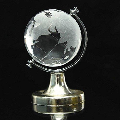 Bazaar World Globe Crystal Glass Clear Paperweight Wedding Favor Home Desk Decor (Paperweight Wedding Favors)