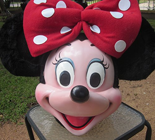 Minnie Mouse Fiberglass Head Mascot Costume Adult Cartoon Character (Usa Cheerleader Costume Australia)