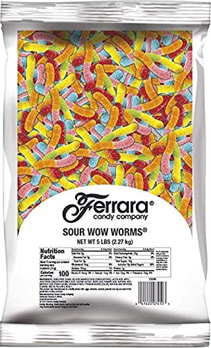 Ferrara Candy Sour Wow Worm, 5 Pound Bulk Candy Bag (Pack of 6) by Ferrara Candy Company (Image #1)