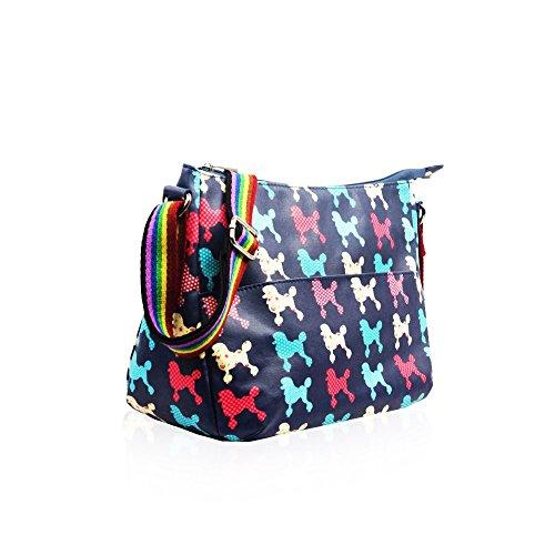 HB Style - Bolso estilo bolera para mujer Multicolor multicolor azul marino