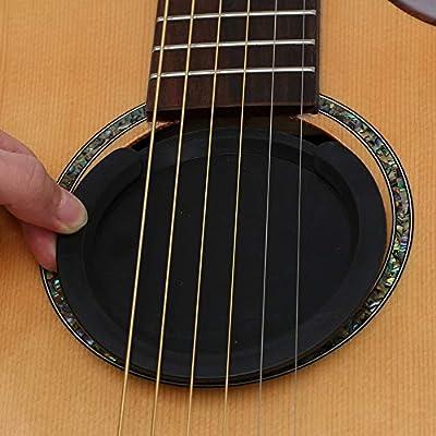 Guitarra Eléctrica Acústica de Sonido Agujero Cubierta, Feedback ...