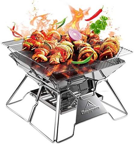 RKY Barbecue Grill - En dehors de la maison grille de barbecue en acier inoxydable four portable pliable grill poêle à charbon poêle à bois / - /