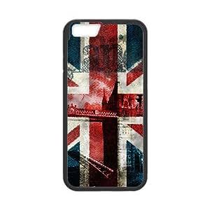 iPhone 6 Plus 5.5 Inch Cell Phone Case Black Grunge British Flag Lqqei