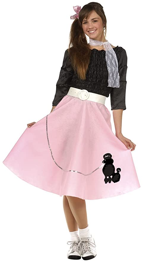 6854fdfbf5c8 Amazon.com: 50's Teen Poodle Skirt Costume - Teen 16-18 by RG Costumes:  Toys & Games