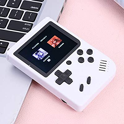 Ruorin 3 inch Handheld Retro FC Game Console 400 Games 8 Bit Game Player (White): Computers & Accessories