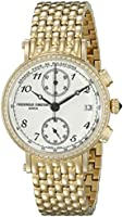 Frederique Constant Women's FC291A2RD5B Analog Display Swiss Quartz Yellow Watch