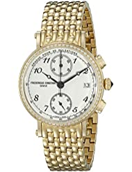 Frederique Constant Womens Classics White Dial Yellow Goldtone Stainless Steel Swiss Watch FC-291A2RD5B