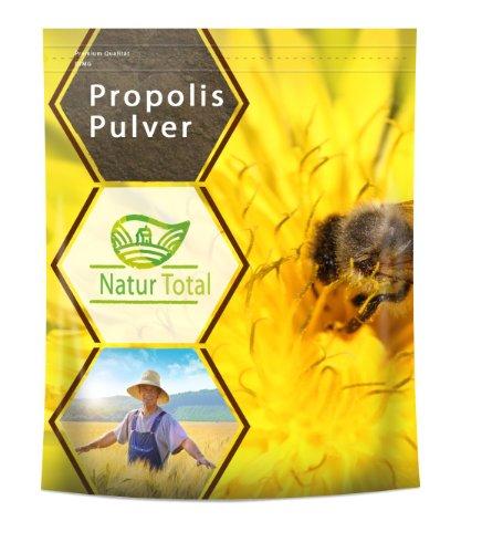 Naturtotal Propolis Pulver, 100g aus getrocknetem und anschliessend gemahlenem Rohpropolis gewonnen. Zur Kräftigung und Stärkung des Allgemeinbefindens.