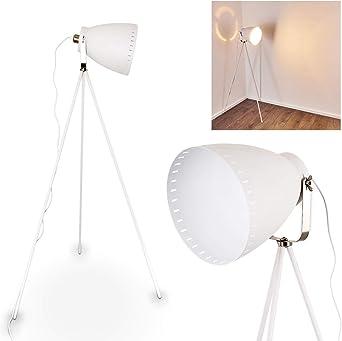 Lámpara de pie Tanhua blanco - Lámpara de pie antigua - Proyector ...