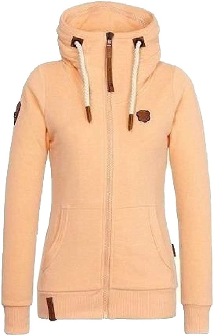 Tootlessly-Women Long Sleeve Thick Warm Drawstring Hooded Hoodies Coat
