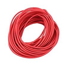 uxcell® 12M 18AWG 10KV Electric Copper Core Flexible Silicone Wire Cable Red for RC