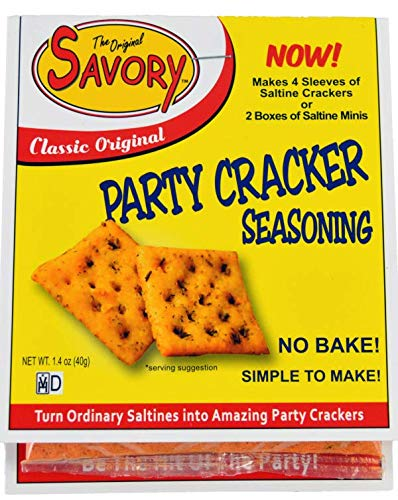 Savory Saltine Seasoning, 1.4 Ounce, Classic Original, 4 Pack ()