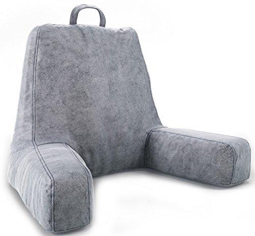 Ziraki Cojín grande de felpa de espuma triturada para leer y relajarte frente a la TV–Perfecto para niños,...