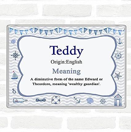 Imán para nevera con el nombre de Teddy, significado, jumbo ...