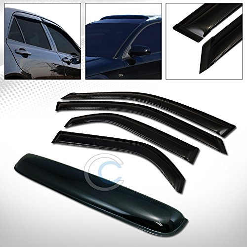 R&L Racing SMOKE SUN SHADE WINDOW VISORS+SUNROOF MOON ROOF GUARD DEFLECTOR 01-06 ACURA MDX