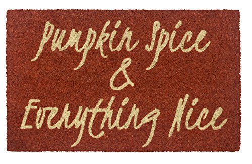 Face Spice (Entryways Pumpkin Spice, Face Non- Slip Coconut Fiber Doormat 17
