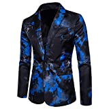 Cloudstyle Mens Suit Jacket Slim Fit Printed One Button Notched Lapel Floral Casual Blazer Sports Coat