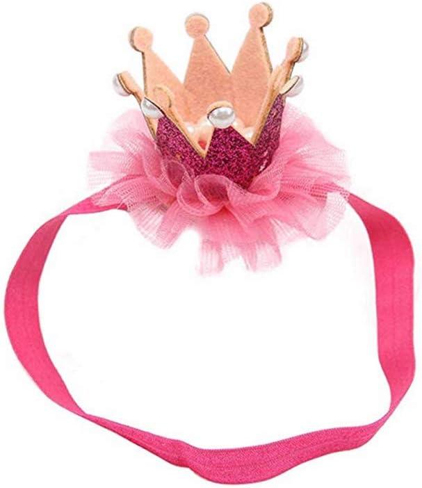 Brillant Diad/ème Couronne bandeau et clip mignon Hairband meilleur cadeau pour b/éb/é fille B/éb/é Accessoires cheveux