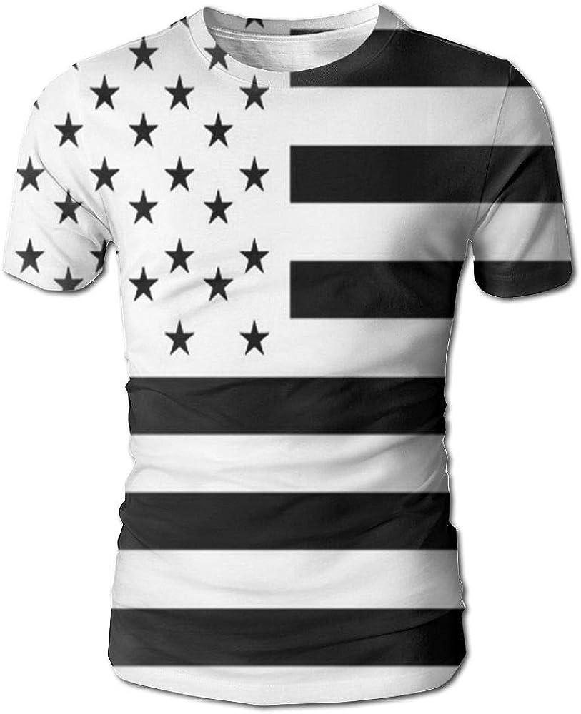 CUTEDWARF Hawaiian Short Sleeve Crewneck Tee 3D Printed Moroccan Flag T-Shirt