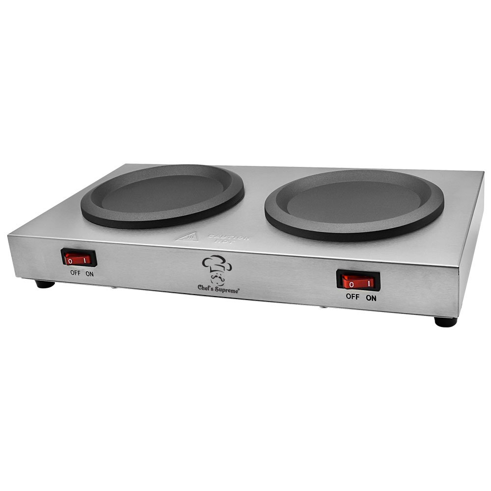 Chef's Supreme - Stainless Double Coffee Warmer Chef' s Supreme
