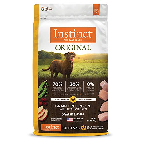 Instinct Original Grain Free Recipe with Real Chicken Natural Dry Dog Food by Nature's Variety, 11 lb. Bag (Chicken Soup For The Soul Cat Food Reviews)