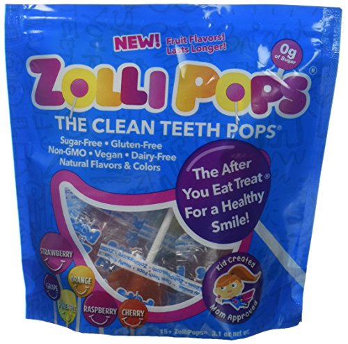 Zollipops Assorted Flavors, Natural Fruit Variety, 3.1 Ounce by Zollipops