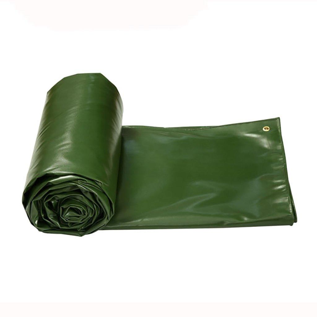 ターポリン高強度厚い塩ビ防水トラックコンパートメント貨物ヤードヤードテント布屋外0.6ミリメートル550グラム/m2草緑8サイズ (サイズ さいず : 5*4m) B07DD4R4T1 5*4m  5*4m