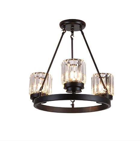 MIAOLL LED E27 Araña De Cristal Lámpara Preciosa lámpara de ...