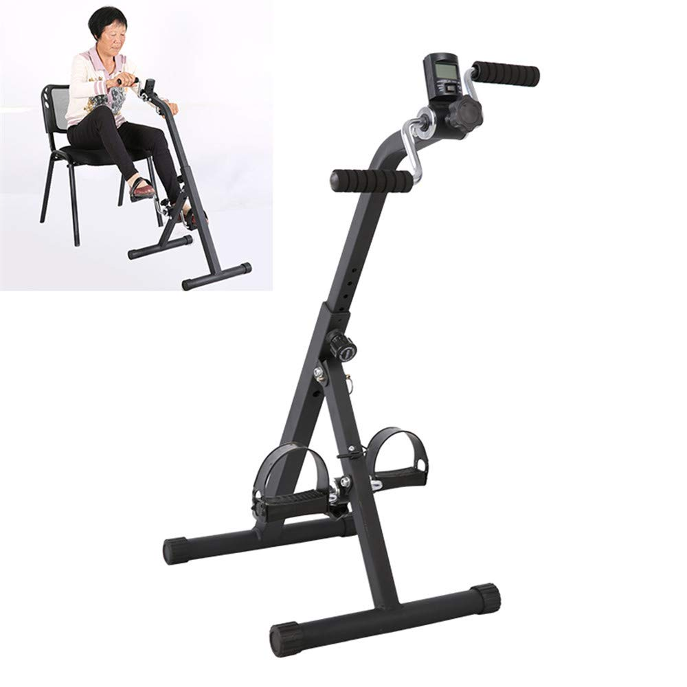 JFGUOYA Pedal Exerciser Medical Peddler for Leg Arm and Knee Recovery Exercise with LCD Monitor, Portable Pedal Exerciser Fitness Equipment for Seniors and Elderly