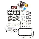 Evergreen Engine Rering Kit FSBRR4028 92-95 Honda Civic Del Sol D16Z6 Full Gasket Set, 0.50mm / 0.020'' Oversize Main Rod Bearings, 0.50mm / 0.020'' Oversize Piston Rings