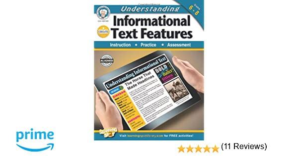 Understanding Informational Text Features, Grades 6 - 8: Schyrlet ...