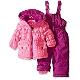 Pink Platinum Baby Girls' Infant Foil Star Printed Snowsuit, Pink, 12 Months