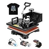 "Arts & Crafts : SUNCOO 5 in 1 Heat Press Machine Swing Away,Professional Digital Transfer Sublimation Heat Pressing Machine for T-Shirt/Mug/Hat Plate/Cap,12""x15"" Combo Kit"