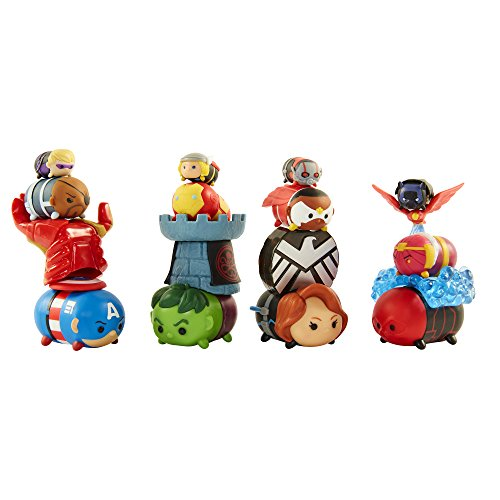 Tsum Tsum 64753 Marvel Avengers Figure Gift Set, 12 Piece