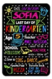 Honey Dew Gifts Colorful Last Day of School Chalkboard Style Photo Prop Tin 12 x 18 inch Sign - Reusable Easy Clean, Customizable with Liquid Chalk Markers (Not Included)