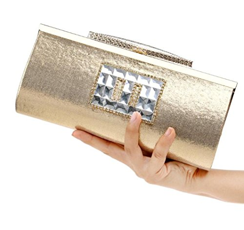 Evening Prom Bridal Women Wedding Bag Sequin Shoulder Bag Clubs Gold Glitter Diamante For Envelope Clutch Gift Handbag Purse Party Ladies Cqq7wZt