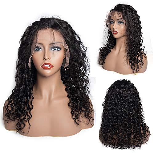 Pelucas de encaje frontal para mujeres negras VIPbeauty 130% densidad sin procesar cabello humano brasileño rizado sin pegamento, ondulado con encaje frontal, pelucas preconectadas con pelo de bebé