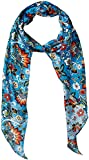 LAUNDRY BY SHELLI SEGAL Women's Boho Floral Oblong Scarf, Blue Atoll, One Size