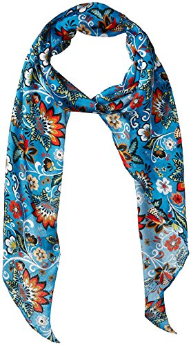 - LAUNDRY BY SHELLI SEGAL Women's Boho Floral Oblong Scarf, blue atoll, One Size