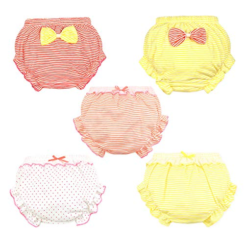 (NinkyNonk Baby Girls Diaper Cover Bloomers Stretchy Ruffle Soft Cotton Underwear Panties for Toddler)