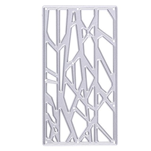 Bamboo Pattern Cutting Dies Stencil, Bamboo Frame Cutting Template, Carbon Steel Decorating Cutting Board Stencil for Handicrafts Scrapbook Embossing Paper Card (Bamboo Response Card)