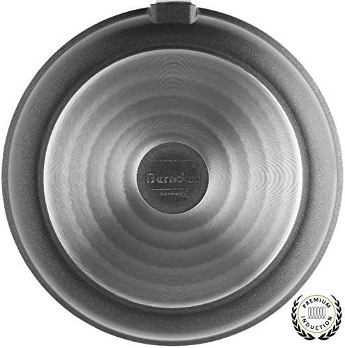 Berndes 031569Casserole avec Couvercle en Verre, Fonte d'aluminium, Noir, 34,5x 36.0x 8.0cm,