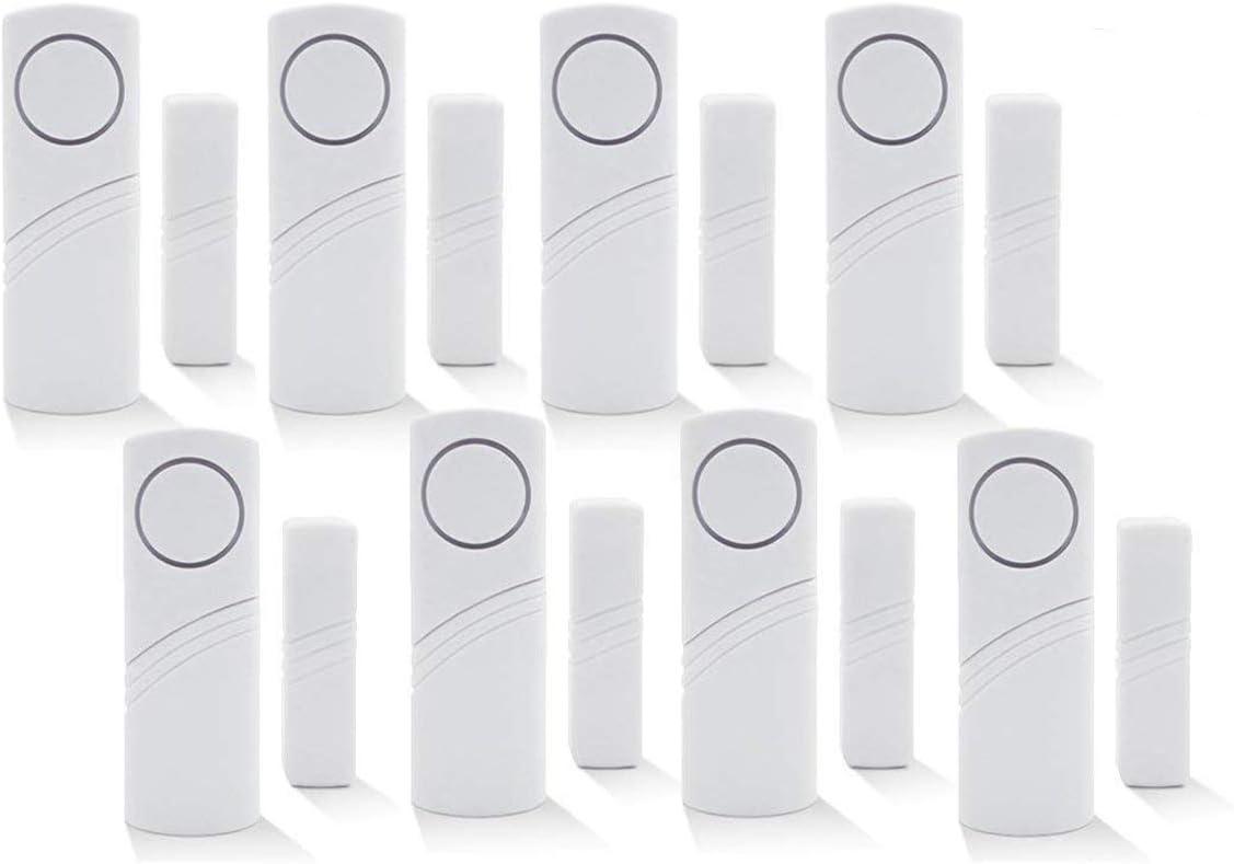 Inalámbrico de alarma de seguridad para el hogar DIY Kit - antirrobo de alarma magnético Sensor - ventana cristal vibración alarma antirrobo Seguridad para casas, coches, caravanas, cobertizos (8)