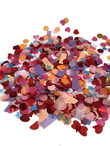 Multi-Color, Multi-Shape, Tissue Paper & Foil Confetti, Suitable for Wedding Decorations, Birthday Decorations, Bridal Shower Decorations, Engagement Party Decorations, 3.5oz