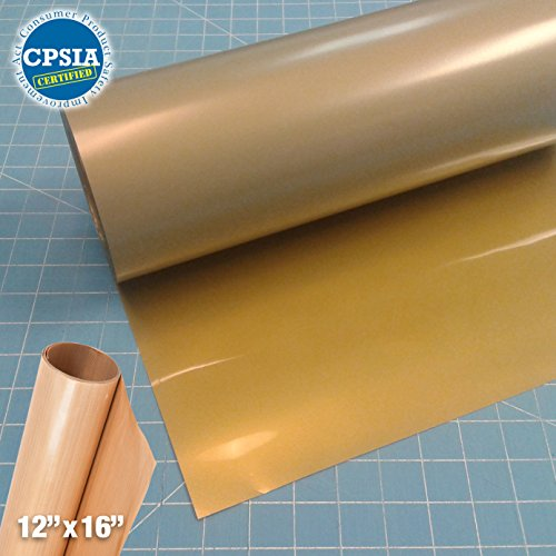 Siser Easyweed Gold Heat Transfer Craft Vinyl Roll (150ft x 15'' Bulk w/ Teflon roll) by Siser