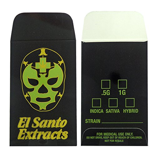 1000 El Santo Extracts Foil Shatter Labels Wax Strain Coin Envelopes #141 by Shatter Labels