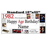 1982 PERSONALIZED BANNER by Partypro