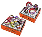 Christopher Radko Shiny Brite 2 Box Set Halloween Glass Ornaments Skulls Day of The Dead New